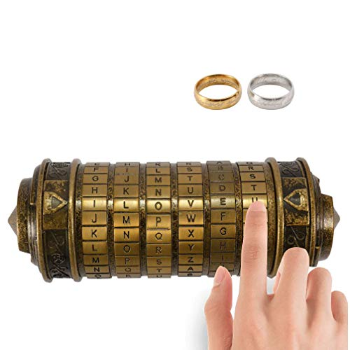 Retro Birthday Valentine Gift Box Cylinder Lockbox Da Vinci Code Alphabet Locks