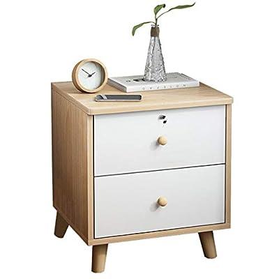 【Armario de sala】: Algunos muebles se ven bien, pero no son muy prácticos. Otras funciones son normales, pero parecen inútiles y aburridas. Sin embargo, esta mesa auxiliar tiene un tono cálido vintage y un diseño de 2 cajones con cerradura para brind...