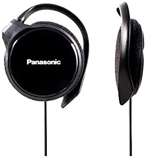 Panasonic RP-HS46-K SLIMZ Ear-Clip Headphones with Ultra-Slim Housing (Black) (Discontinued by Manufacturer)