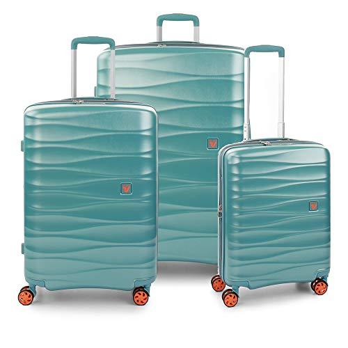 RONCATO Stellar - Juego de 3 maletas rígidas extensibles con 4 ruedas Tsa Menta
