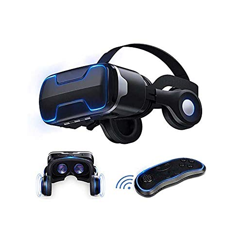 3D VR Brille Virtual Reality Brille mit Fernbedienung VR Headset 110 Grad FOV & Kompatibel mit iPhone, Samsung & Anderen 4.7