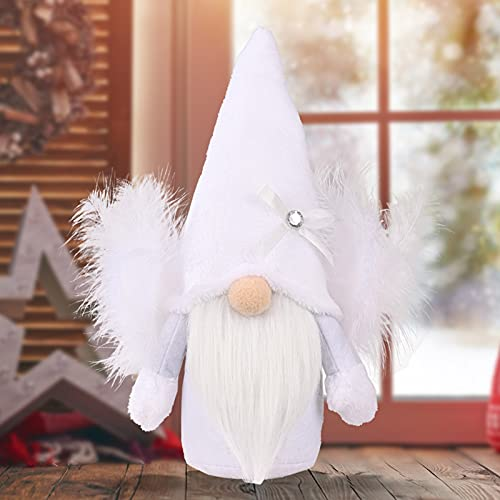 Angel Faceless Gnome Plush Doll Decor Ornament Handmade Elf Wing Dwarfs Figures Desktop Table Decorations Toy Gift for Indoor Party Favours Kids Children Women Family