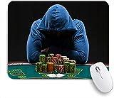 HASENCIV Gaming und Office Mauspad,Casino Glücksspielhaus Gamestar Hardened Gambler Jeton,Mousepad mit rutschfeste Gummibasis Mauspad für Laptop,Computer 24 x 20cm
