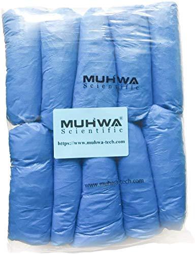 MUHWA CPE Fundas Desechables para Zapatos y Botas, 100 Unidades, 3 g, Color Azul Claro