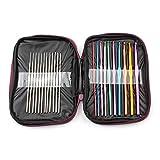 FSLLOVE FANGSHUILIN 22/100 unids DIY Ganchillo Ganchos Agujas Puntadas Punto Caja de artesanía Crochet Agulha Set Herramientas de Tejido Herramientas de Costura (Color : 22Pcs Crochet Hooks)