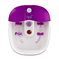 Sensio Foot Spa Massager Pedicure Bath – Nine accessories - Pamper Your Feet with Heat, Bubbles and ...