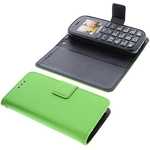 foto-kontor Tasche für Artfone CS182 Book Style grün Schutz Hülle Buch
