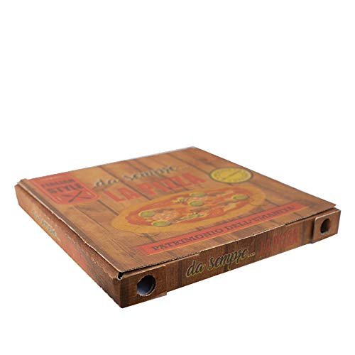 VIRSUS 100 Scatola Pizza 32x32 h 3cm Cartone Pizza Porta Pizza Termico da asporto Pizzeria Ristorante 100 scatole