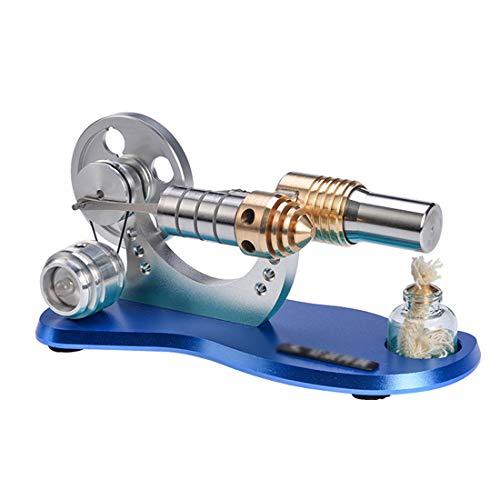 DAN DISCOUNTS Kit de construcción de motor Stirlingmotor de combustión externa Stirling, modelo de motor, juguete educativo para adultos y niños con tabla azul