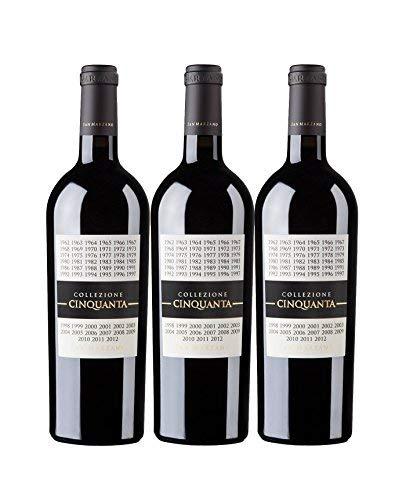 Vorteilspaket San Marzano Collezione Cinquanta Vino Rosso d' Italia 0,75 L 2012 Rotwein trocken