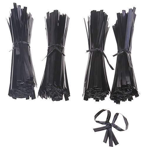 ENET Lot de 1000 attaches torsadées avec revêtement en plastique 100 mm pour usage général