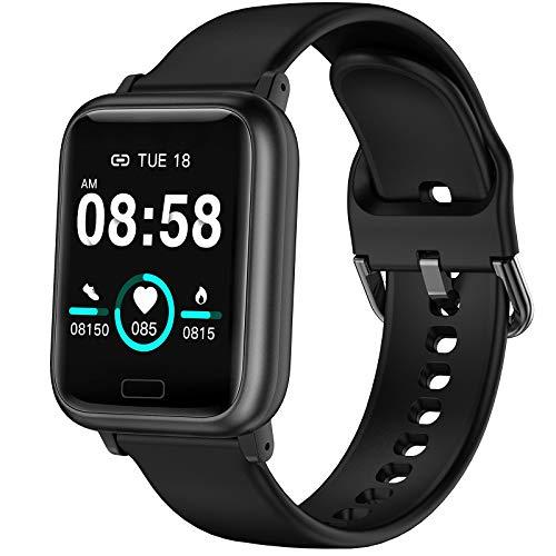 ASWEE Smartwatch - Fitness Tracker mit Blutdruckmessung Fitness Armbanduhr mit Pulsuhr Schlafmonitor IP67 Wasserdicht Sportuhr Schrittzähler für Android und iOS Smart Watch für Damen Herren