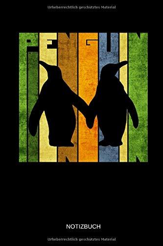 Penguin - Notizbuch: Retro Pinguine - Lustiges Pinguin Notizbuch. Pinguin Zubehör & Pinguine Geschenk Idee.