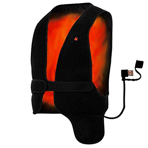 HotVest Electric Heated Power Vest - Universal Adjustable Size for Men or Women, Instant Warmth Under Any Jacket, Battery Pack Power Bank Sold Separate (Large)
