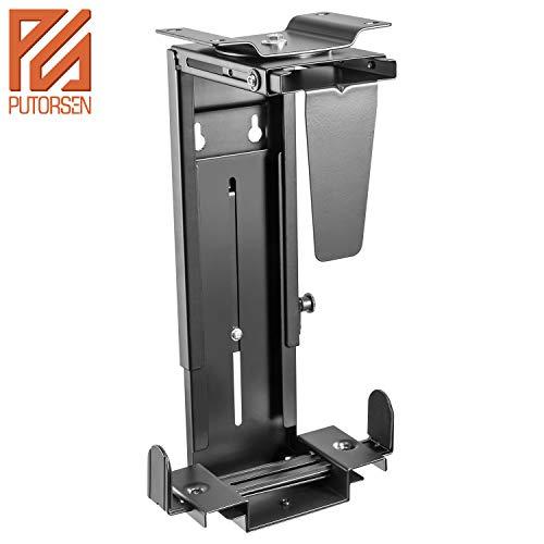 PUTORSEN® Verstellbare Computergehäuse-Halterung für die PC-Wandhalterung mit 360-Grad-Drehung, schwarz