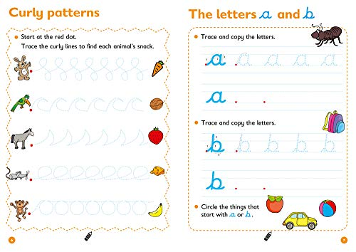 Cursive Letters Age 3-5 Wipe Clean Activity Book: Reception English Home Learning and School Resources from the Publisher of Revision Practice Guides, ... Activities. (Collins Easy Learning Preschool)
