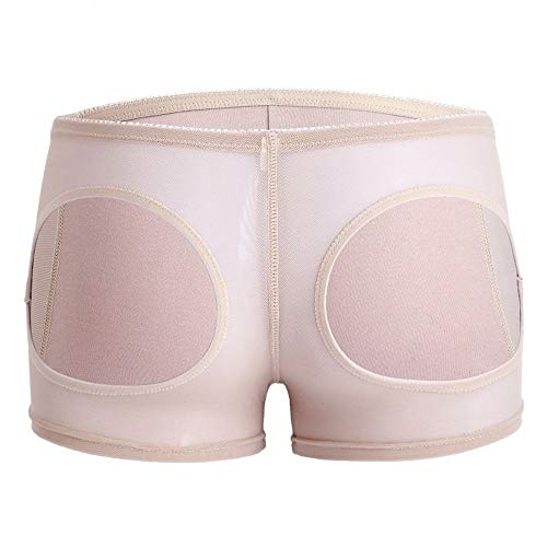 Rugsteungordel Plus Butt Lifter Corrigerende Ondergoed Briefs For Women Waist Trainer Body Shaper Controle Panties Sexy Ass Lift Up Panty Short US brace Lumbale (Color : Nude, Size : M)