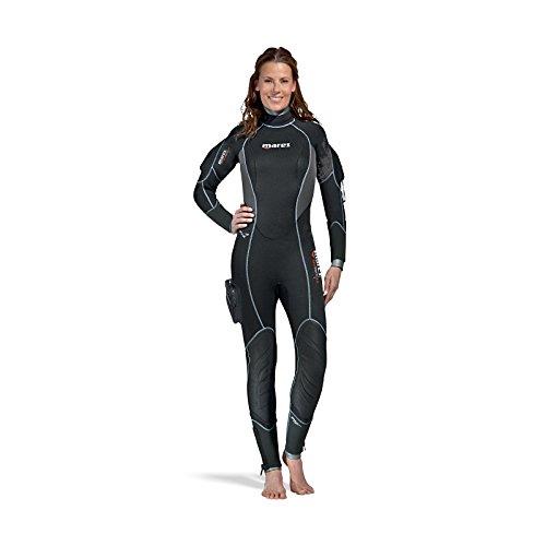 Color Negro Mares Shorty Manta Traje de Buceo para Mujer