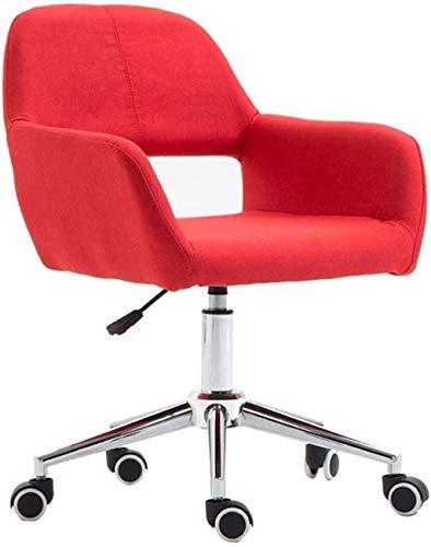 FACAIA Silla para computadora con polea, Altura Ajustable, Silla giratoria para Oficina en casa, sillón para arrodillarse (Color: Negro)