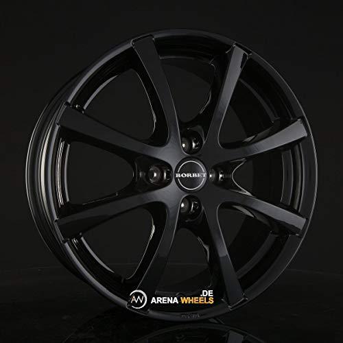 Borbet LV4 black glossy 5,5x15 ET40 4.00x100 Hub Bore 64.00 mm - Alu felgen