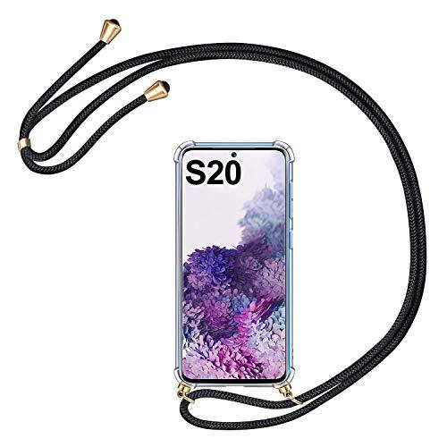 AROYI Handykette Handyhülle Kompatibel mit Samsung Galaxy S20 5G Hülle mit Kordel zum Umhängen Necklace Hülle mit Band Silikon Schutzhülle Acryl Hülle Kompatibel mit Samsung Galaxy S20 5G