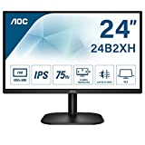 AOC Monitor 24B2XH- 24' Full HD, 75 Hz, IPS, Flickerfree, 1920x1080, 250 cd/m, D-SUB, HDMI