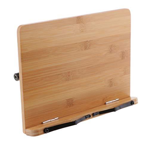 kowaku Soporte de Libro de Bambú, Bandeja de Soporte Ajustable Y Papel de Página para Recetas de Libros de Texto