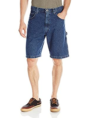 Wrangler Authentics Men's Classic Loose Fit Carpenter Short, Retro Stone, 38
