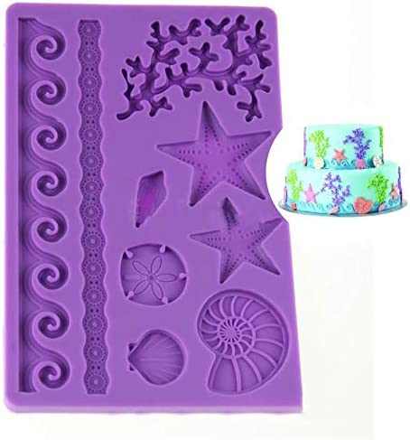 9 Sea Life Marine List price Ornaments 3D Outstanding Silicone Chocolate Soap Fo Cake