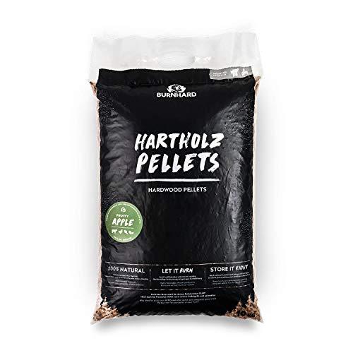 Burnhard Holzpellets 10 kg, Grillpellets für Pelletsmoker, Ofen & Gasgrill - Apfel