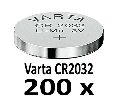 10-1000 STK. (200 Stück) Variante frei wählbar Varta 2032 Knopfzelle