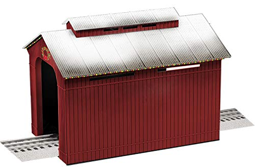Lionel Christmas, Electric O Gauge Model Train Accessories, Lighted Christmas Half Covered Bridge (1929090)