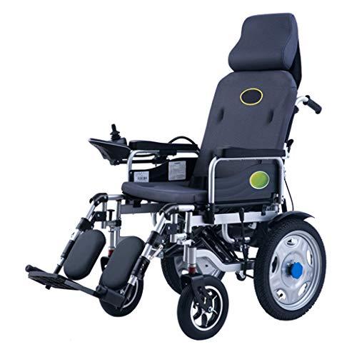 CIKO Elektrorollstuhl Faltbar Leicht 360 ° Joystick Lithiumbatterie Elektro Mobilitätshilfe Elektrischer Rollstuhl Medizinischer Leichte Roller Tragbare Ältere Behinderte Hilfe Auto
