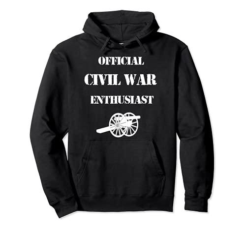 Camiseta de la Guerra Civil Americana para entusiastas y aficionados a la guerra Sudadera con Capucha