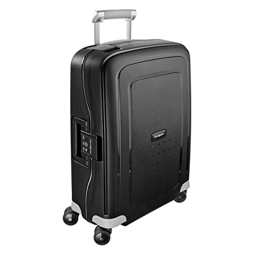 Samsonite S'Cure Hardside Luggage with Spinner Wheels, Black, Carry-On 20-Inch