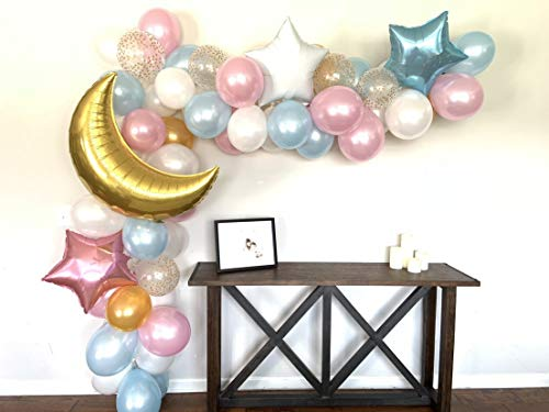 Purchase Twinkle Little Star Gender Reveal Balloon Garland DIY 12 foot Balloon Arch Backdrop Baby Sh...