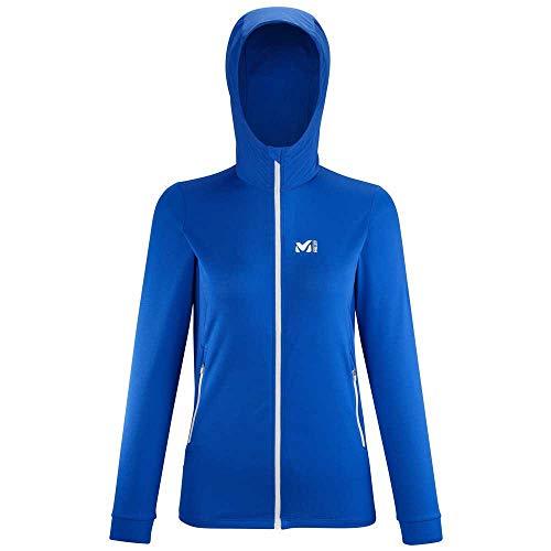 Millet - Varna Hoodie W - Chaqueta Softshell para Mujer, Cortavientos - Senderismo, Trekking - Azul