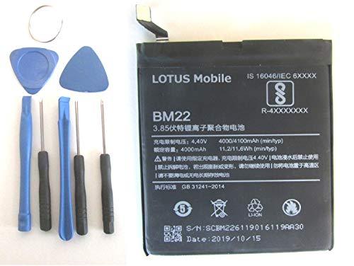 LOTUS Mobile ® Batería BM22 de 4000 mAh para XIAOMI Mi 5, Mi 5 Pro, Mi5 Pro, Mayor Capacidad que la original, 4000 mAh, Maxima Capacidad y Duracion (Incluye herramientas) Fecha de Fabricacion: 10-2019