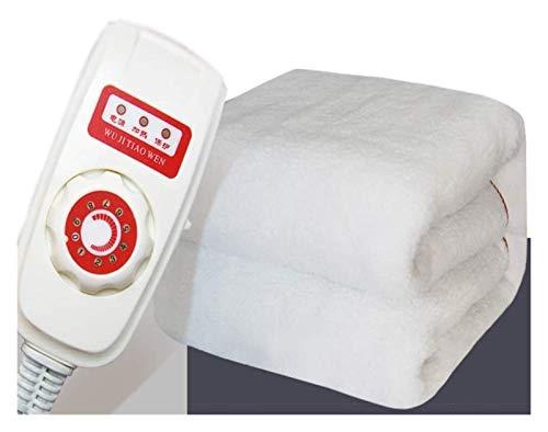 MU Manta calefactora de 1,6 x 1 m, protección de seguridad, sin radiación, suave y cómoda, para todos los colchones comunes, 9 velocidades