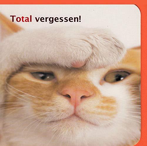 Geburtstagskarte Nachträglich Verspätet Total vergessen Katze