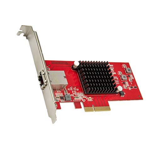 Syba 1 Port 10 Gigabit Ethernet Network Card - PCIe x4 10Gb 10GBASE-T...