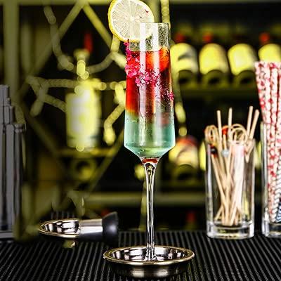 FJJF Set di Bicchieri da Cocktail a 4 Pezzi, Feste per Cena e Occasioni Speciali lavastoviglie Resistente ai Chip Adatte, Tazza di Vetro cristallina, Perfetta per Ogni Celebrazione,Small Age