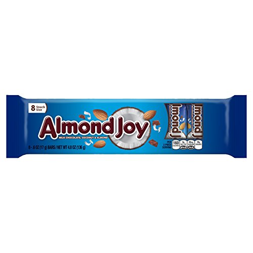 ALMOND JOY Snack Size Candy Bars (8-Count, 4.8-Ounce)