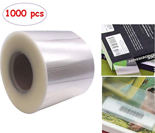100 x KAPCO EASY COVER Clear Heavy Duty Self Adhesive book covers 178mm x 108mm