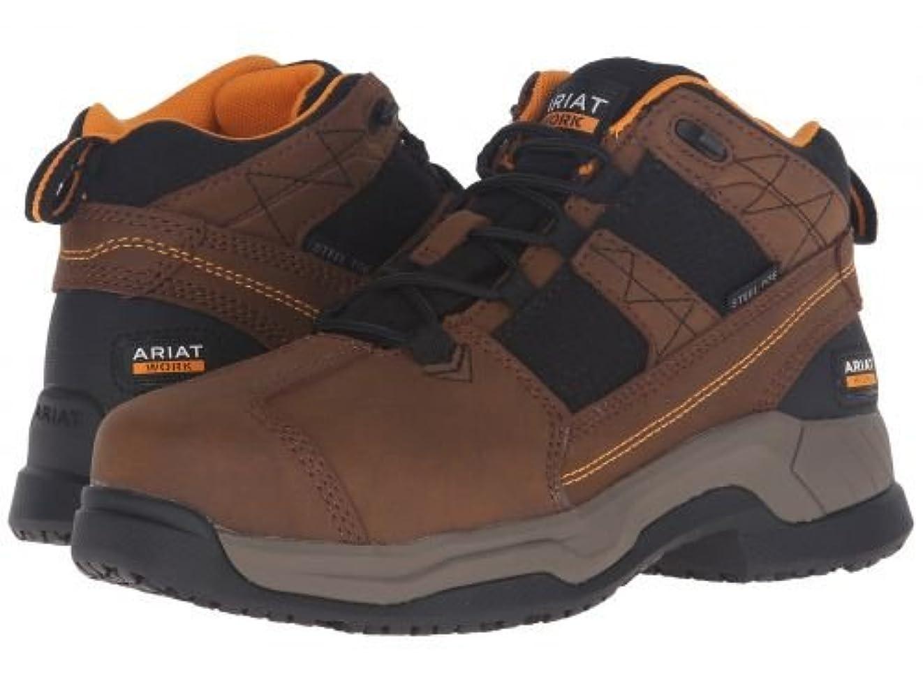 些細なラベル考古学的なAriat(アリアト) レディース 女性用 シューズ 靴 ブーツ 安全靴 ワークブーツ Contender ST - Brown [並行輸入品]