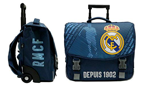 Real Madrid Cartable Scolaire à roulettes Collection Officie