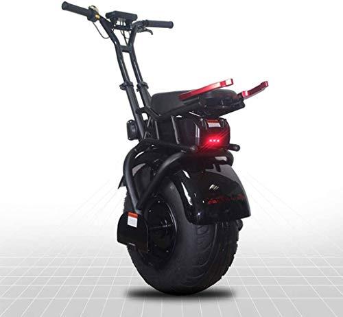 COUYY 18 Pulgadas de Big Sola Rueda Monociclo eléctrico Scooter Auto-Equilibrio de una de Las Ruedas para Adultos Scooter eléctrico con 1000W Potente 60V batería de Litio