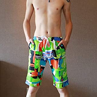 BEESCLOVER Mens Swimming Shorts Beach Quick Dry Summer Men Board Shorts Trunks Bermuda Surf Athletic?Print Spandex Boardshorts