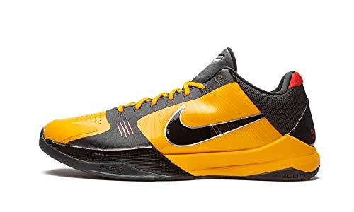 Nike Mens Kobe 5 Protro Bruce Lee - Del Sol/Metallic Silver-Comet Cd4991 700 - Size 10