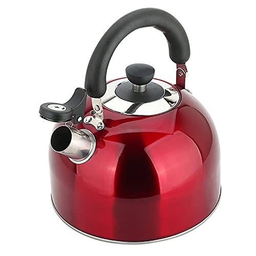 HDDH Hervidor de té de 4 l Premium para Estufa, hervidor de té con silbido de Acero Inoxidable, con Mango ergonómico de Agarre frío, para Estufa de Gas, Estufa de cerámica, Placa de inducción